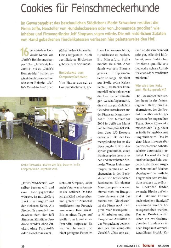 Presseschau Das Branchenforum 05-2010