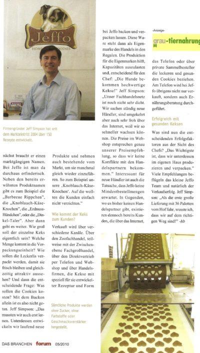 Presseschau Das Branchenforum 05-2010-Teil 2