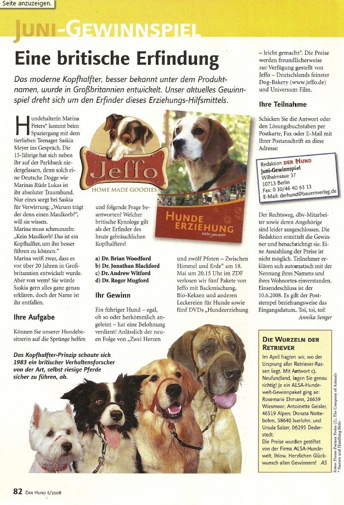 Presseschau Der Hund 06-2008