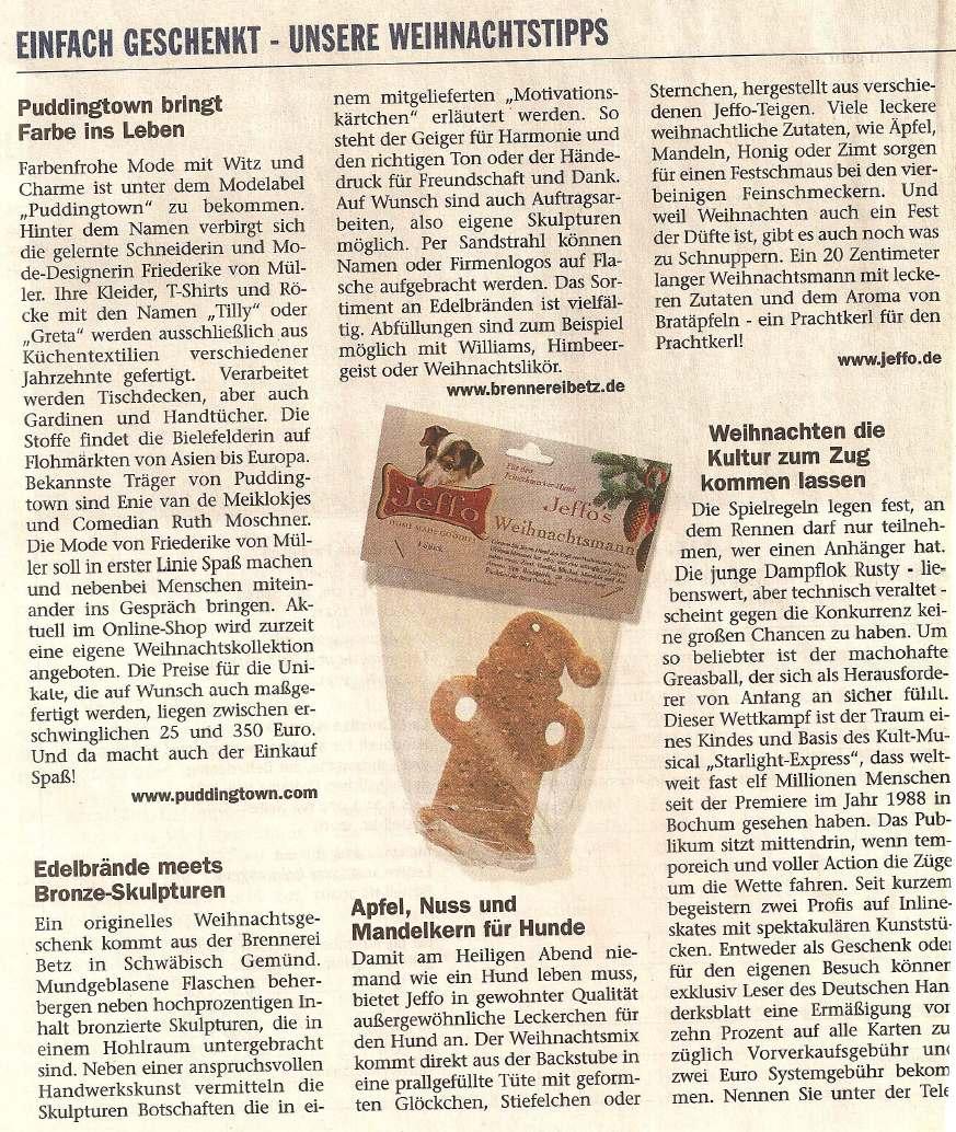 Presseschau Deutsches Handwerksblatt 24.11.2005