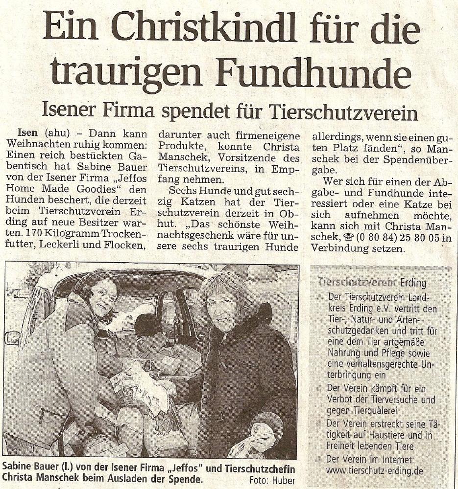 Presseschau Dorfener Anzeiger 12.12.2005
