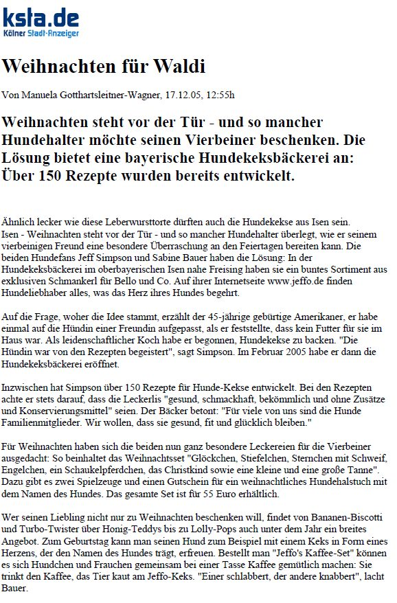 Presseschau Kölner Stadtanzeiger 17.12.2005 Teil 1