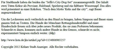 Presseschau Kölner Stadtanzeiger 17.12.2005 Teil 2