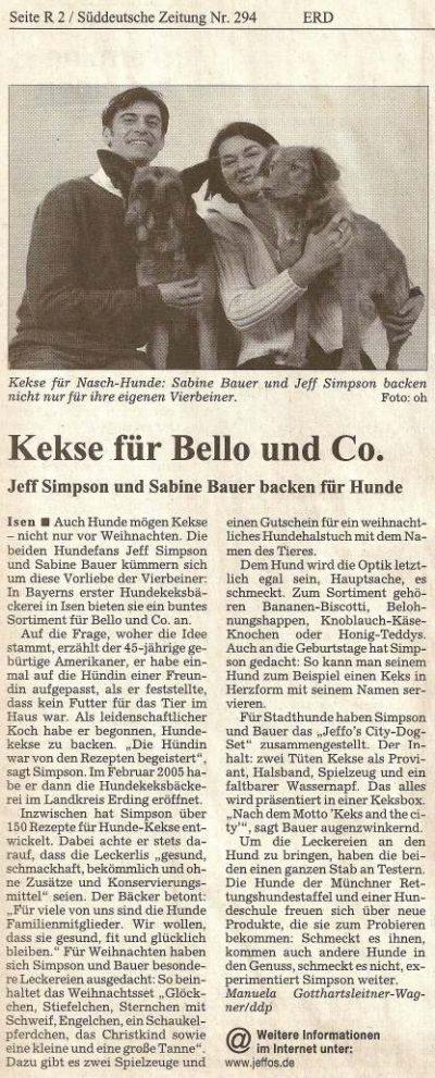 Presseschau Süddeutsche Zeitung 21.12.2005