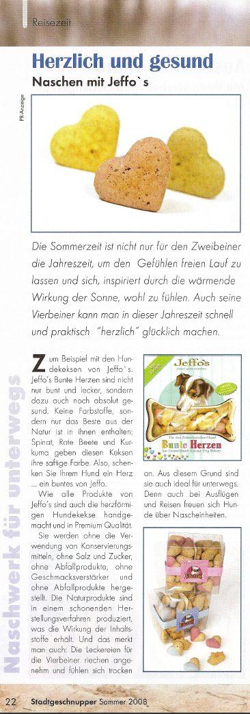 Presseschau Stadtgeschnupper Sommer 2008