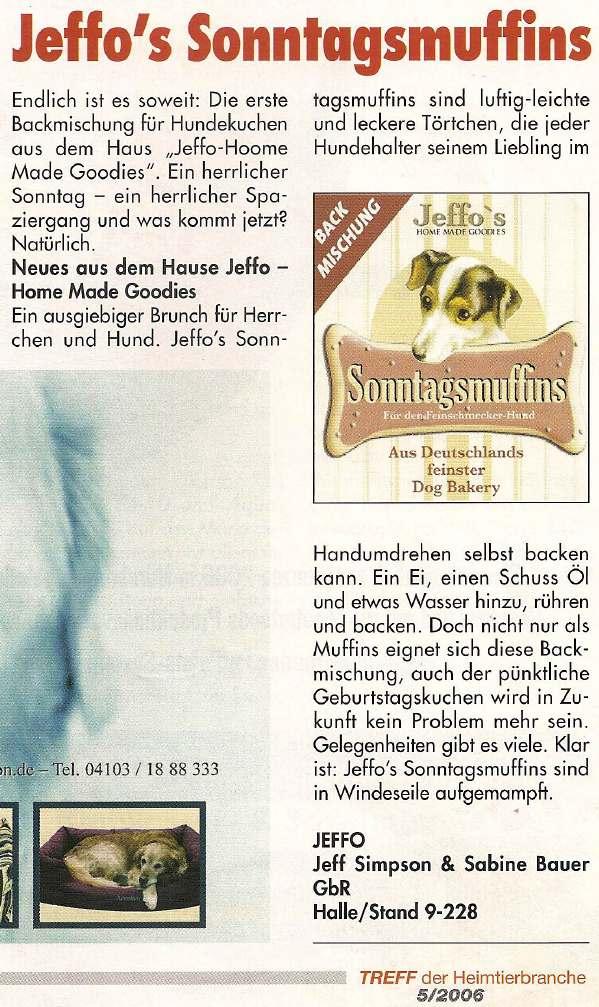 Presseschau Treff der Heimtierbranche 05-2006