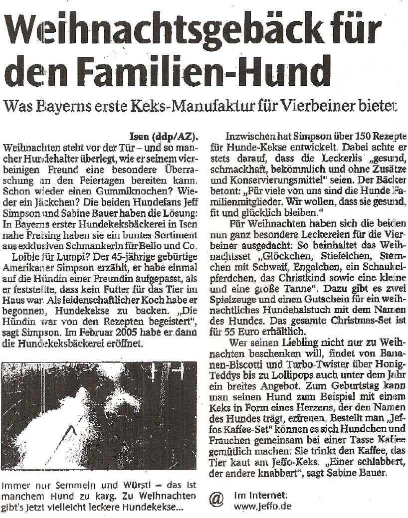 Presseschau Ausgsburger Allgemeine 12-2005
