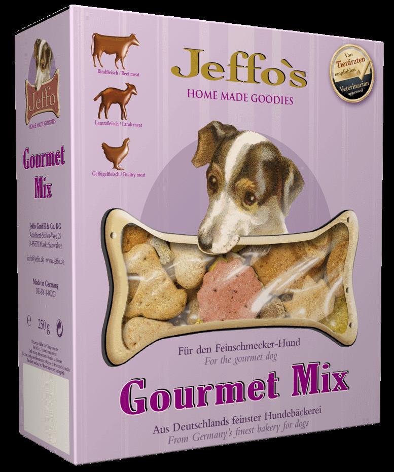 Jeffo Gourmet Mix: Beispiel der Symbolanordnung von Produkteigenschaftssymbolen