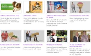 Jeffo in den Medien: TVJeffo - Der Videochannel für Hunde