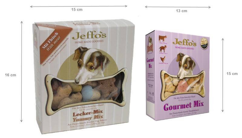 Jeffo Produktrelaunch 2012 umweltfreundliche und kleinere verpackung Groessenvergleich