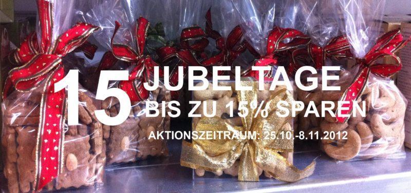 Jeffo Rabattaktion 15 Jubeltage - bis zu 15% sparen